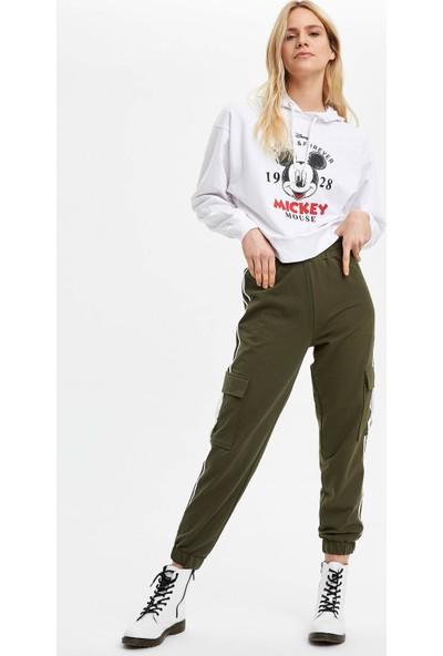 DeFacto Kadın Mickey Mouse Lisanslı Kapüşonlu Sweatshirt