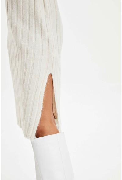 DeFacto Kadın Balıkçı Yaka Triko Elbise