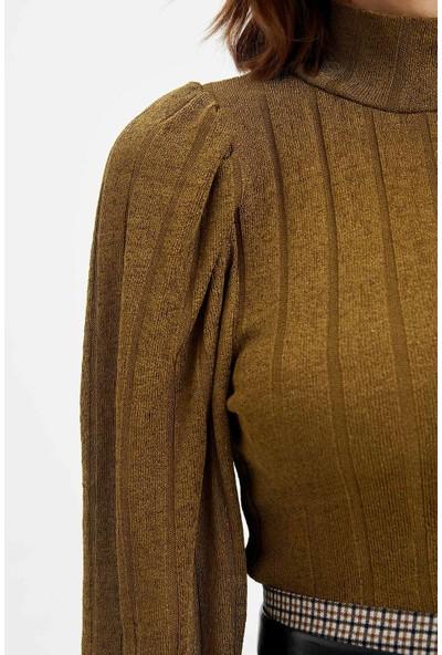 DeFacto Kadın Boğazlı Uzun Kollu Bluz
