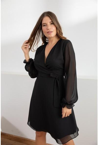 Melisita Misty Anvelop Büyük Beden Elbise