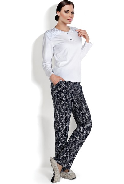 Doremi White-Black Kadın Pijama Takımı