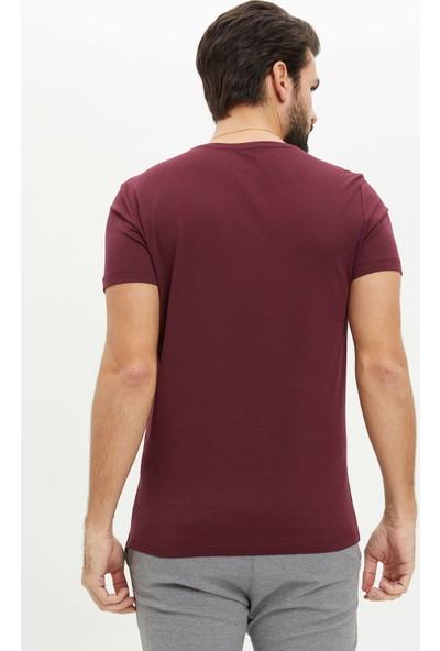 DeFacto Erkek Kısa Kollu Slim Fit T-Shirt