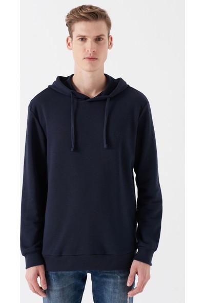 Mavi Kapüşonlu Lacivert Sweatshirt
