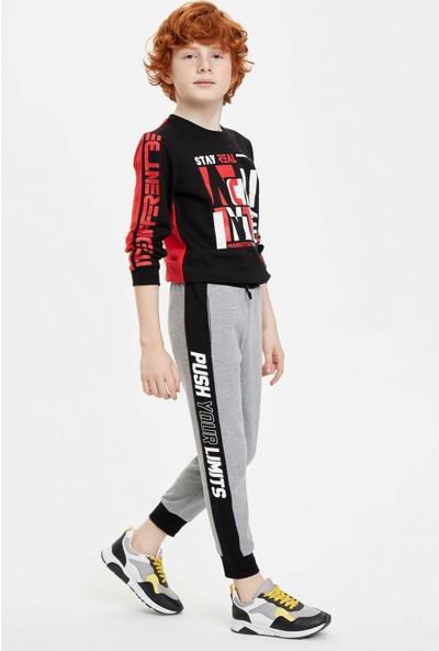 DeFacto Erkek Çocuk Slim Fit Yanı Şerit Detaylı Jogger Pantolon