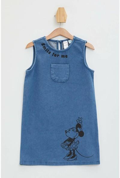 DeFacto Kız Bebek Minnie Mouse Lisanslı Kolsuz Elbise N2427A220SP