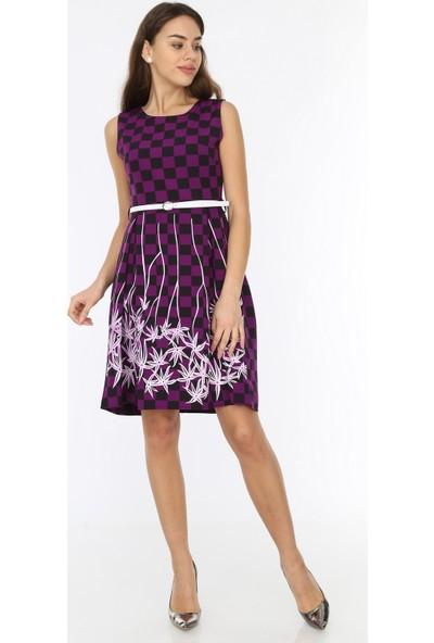 New Laviva Mor Kadın Elbise