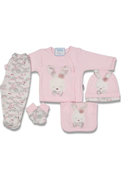 Gaye Bebe Kız Bebek Tavşanlı 5'li Set