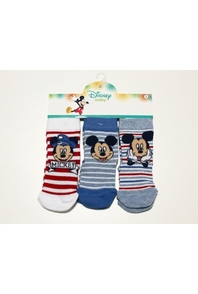 Disneybaby Mickey Mouse 3'lü Çorap 12920 1 Yaş