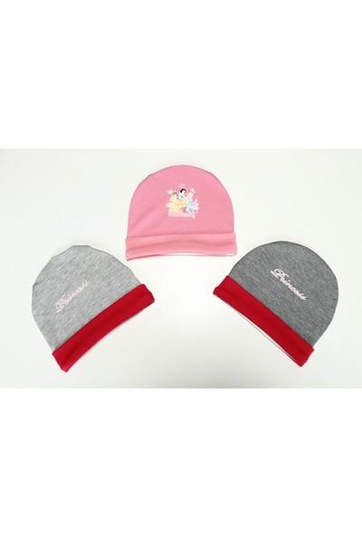 Disneybaby Prensesli Kız Bebek 3'lü Şapka DB050 0 - 3 Ay