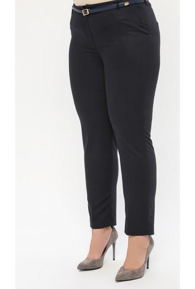 Sln Kadın İnce Kemerli Kumaş Pantolon