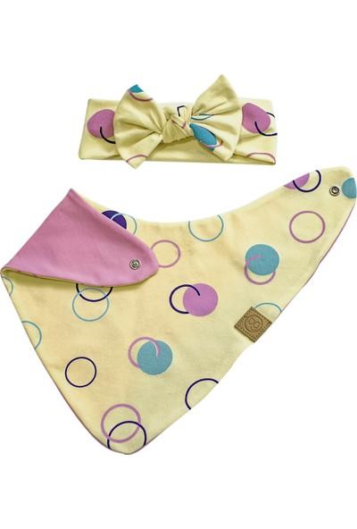 Babygiz Kız Bebek Sarı Renkli Bandana Önlük