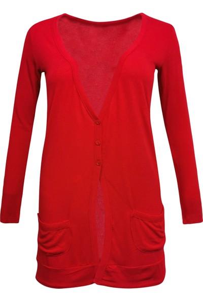 Perla Blanca Kırmızı Kadın Hırka
