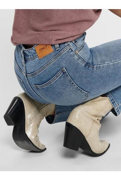 Only Kadın Yüksek Bel Jean Pantolon 15195573