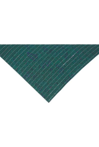 Mavi Kadın Desenli Yeşil Bandana 197386-30715