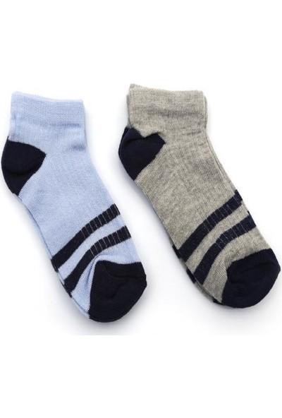 Ciorap 4'lü Çocuk Çizgili Desenli Çorap 2414 3 - 4 Yaş