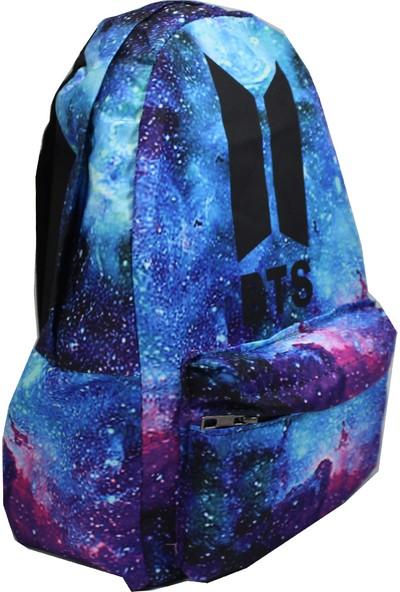Modaroma Bts Logo Galaksi Renkli Sırt Çantası