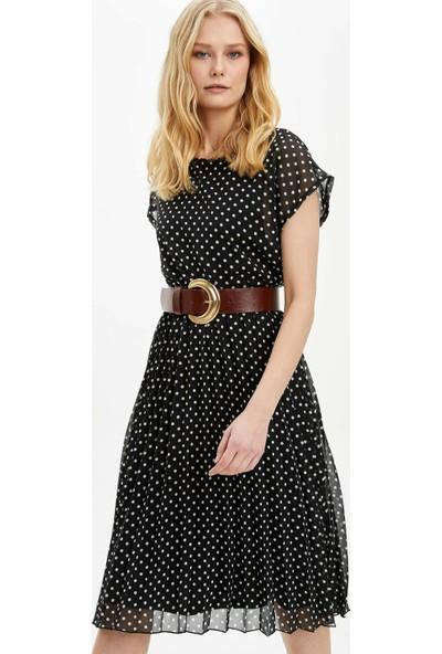 DeFacto Kadın Desenli Kısa Kollu Elbise