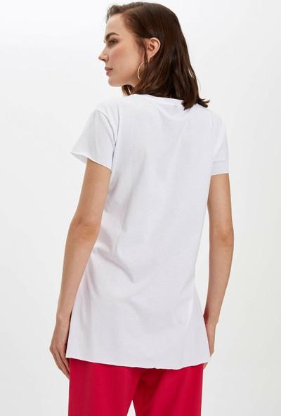 DeFacto Kadın Basic Kısa Kollu T-Shirt