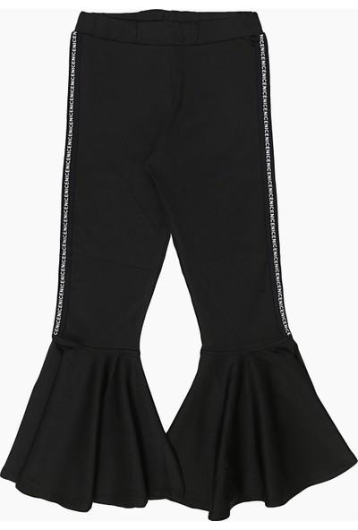 Mojang Ispanyol Paça Kız Çocuk Pantolonlar Siyah Yaş