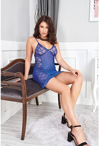 Real Passione Gecelik Kadın Fantezi Mavi XL