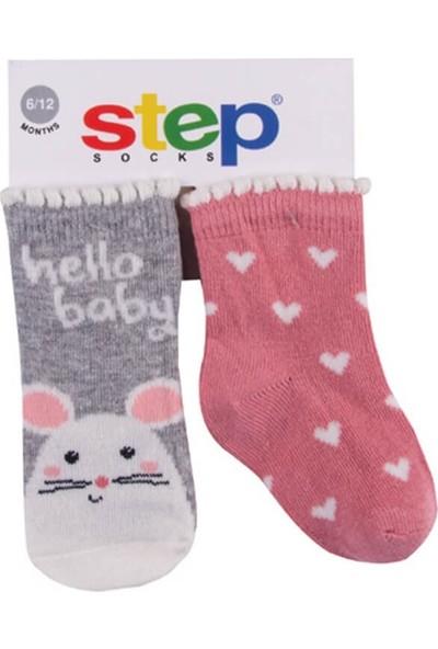 Step Hello Baby Mose 2'li Soket Bebek Çorabı 10097