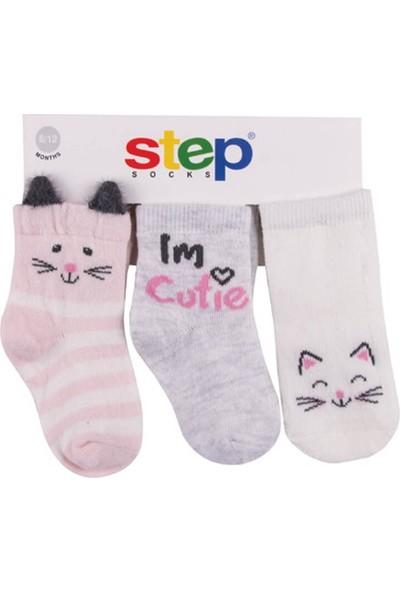 Step Cat 3'lü Soket Bebek Çorabı 10079