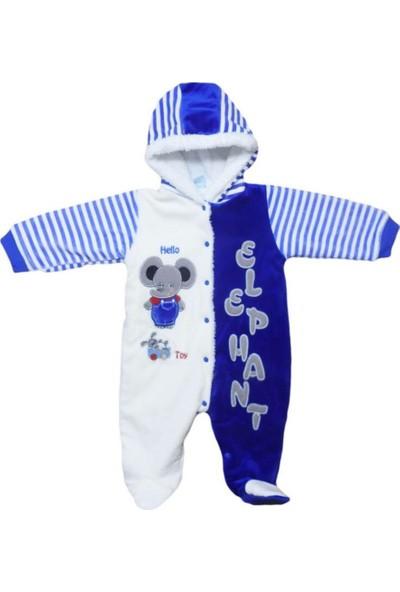 Bebe Sevimli Fil Dışı Kadife Içi Welsoft Patikli Bebek Tulumu