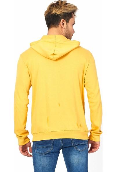 Twenty3 Erkek Basic Kapüşonlu Kanguru Cep Sweat Shirt