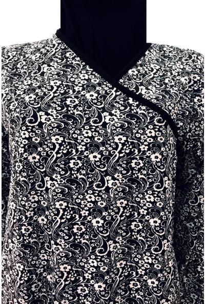 Namaz Elbisesi Siyah Beyaz Desenli