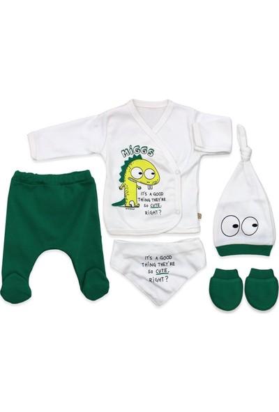 Minizeyn Miggs Cute Yenidoğan 5'li Yeşil Bebek Takımı K3002