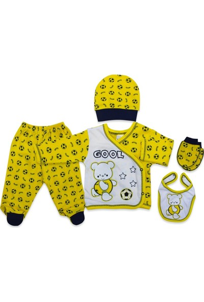 Baby Dodo Fenerli Gool Yenidoğan Bebek 5'li Hastane Çıkışı Seti K2726