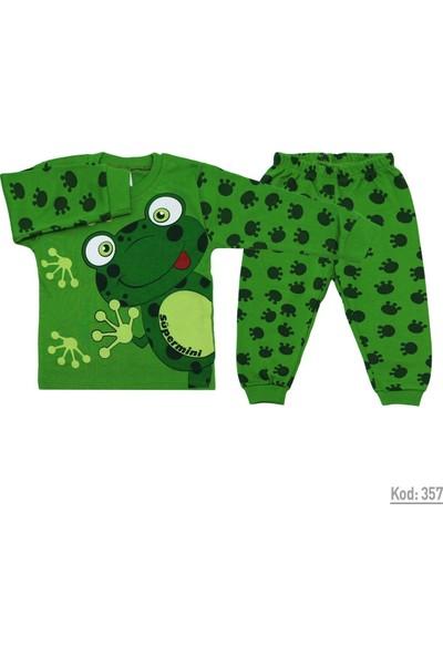 Süpermini Kurbağalı 2 Parça Bebek Pijama Takımı K357