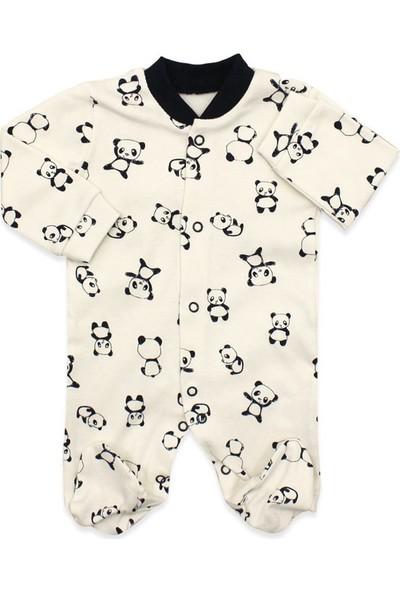 Necixs Panda Figürlü 3'lü Bebek Tulum Seti K1936