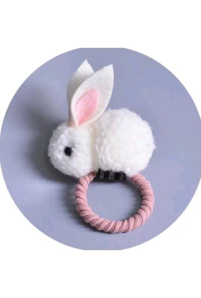 Şirin Şeyler Butiği Saç Lastiği Tavşan Beyaz