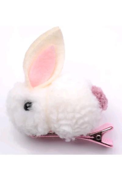 Şirin Şeyler Butiği Saç Tokasi Tavşan Beyaz