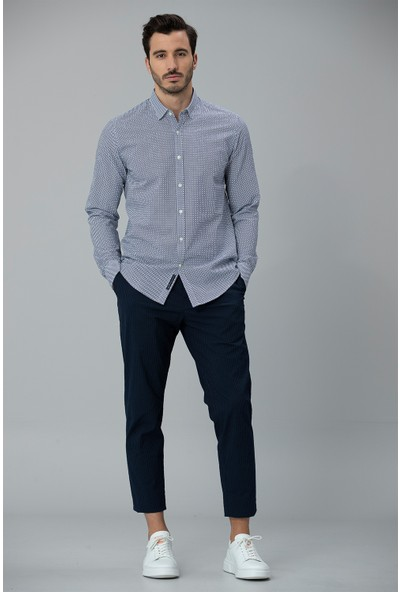 Lufian Erkek Comfort Slim Fit Johan Spor Gömlek