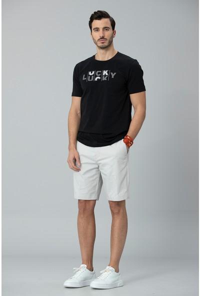 Lufian Erkek Lukki Modern Grafik T- Shirt