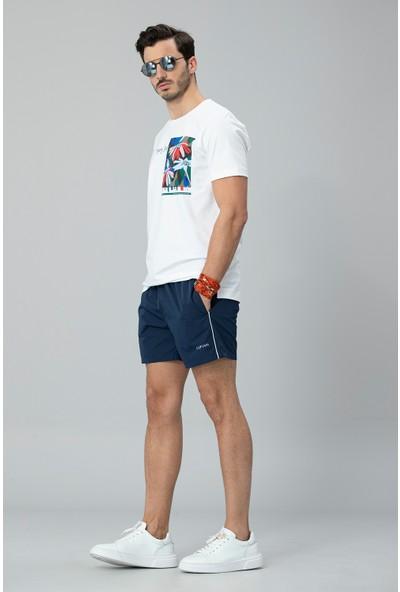 Lufian Erkek Nefer Modern Grafik T- Shirt