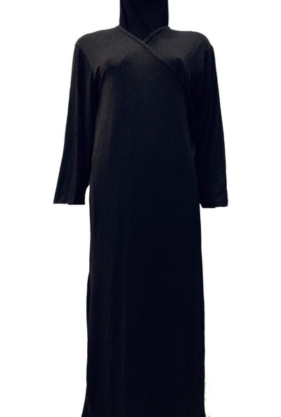 Hazal Namaz Elbisesi Siyah Penye