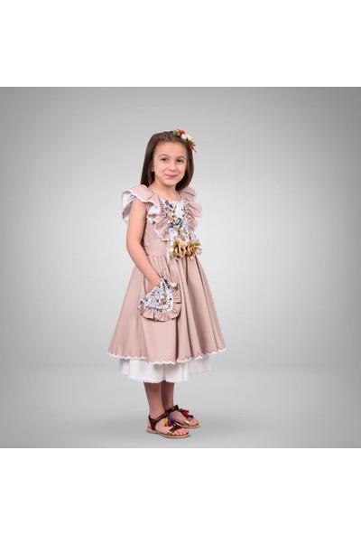 Tivido Çiçekli Klasik Elbise