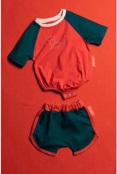 Moi Noi Alttan Çıtçıtlı Şortlu Bebek 2 Parça Takım