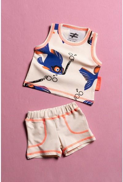 Moi Noi Neon Dikişli Bebek ve Çocuk 2 Parça Takım