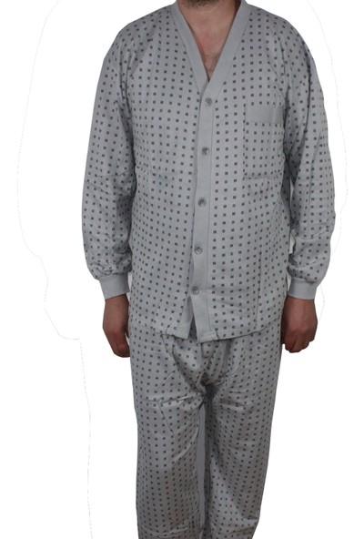 Modatime Erkek Önden Düğmeli Yazlık Pijama Takımı XL