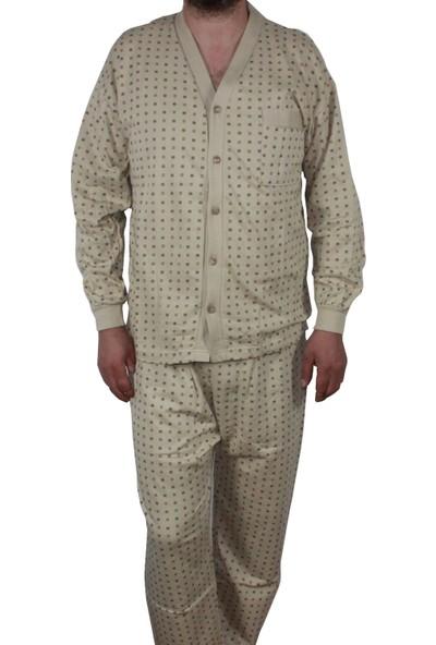 Modatime Erkek Önden Düğmeli Yazlık Pijama Takımı XXL