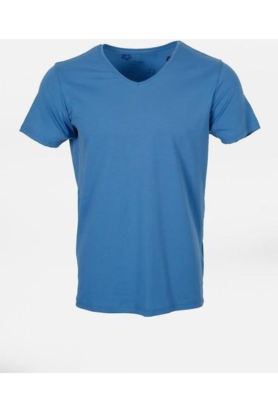 Jakamen Erkek Dar Kalıp - Slim Fit T-Shirt-Jakamen Erkek V Yaka
