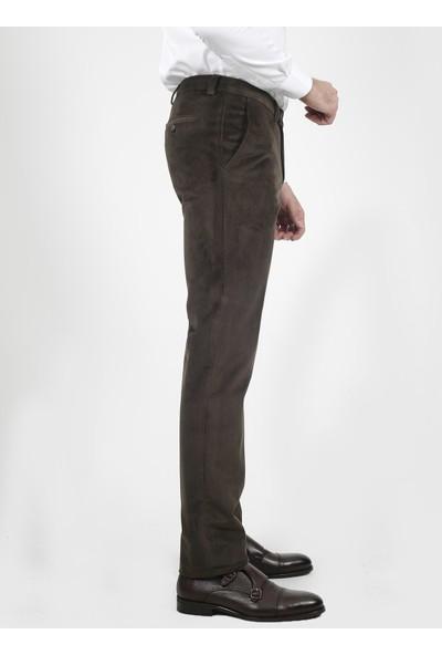 Jakamen Erkek Haki Slim Fit Yan Cep Pantolon