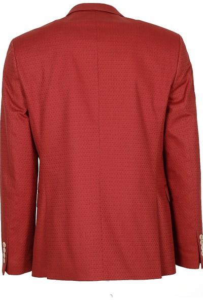 Jakamen Erkek Kırmızı Slim Fit Ceket