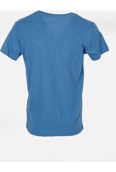 Jakamen Erkek Lacivert V Yaka T-Shirt