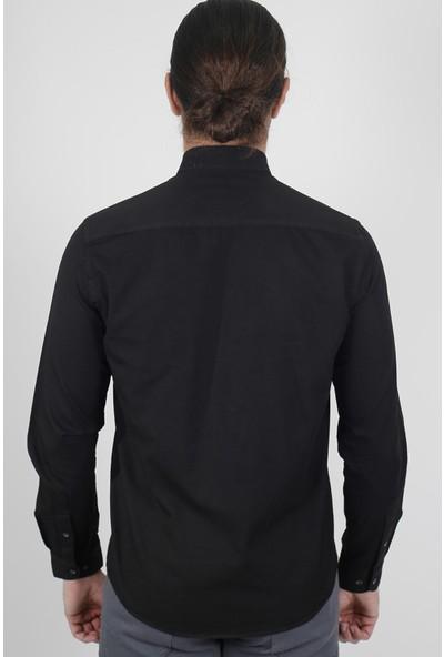 Jakamen Erkek Siyah Slim Fit Gömlek