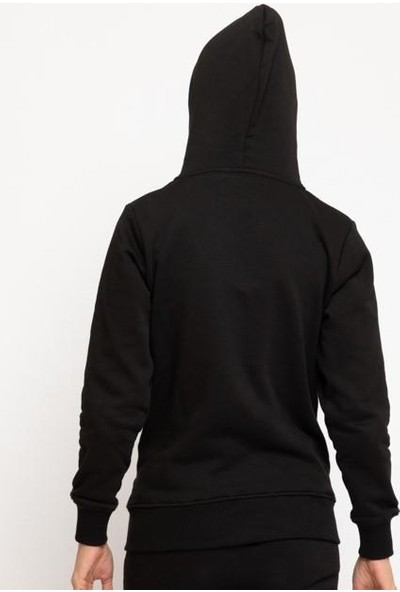 Ral Sport 50523 Kadın Kapüşonlu Sweat Siyah